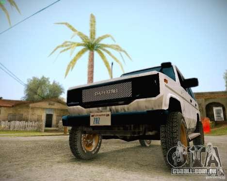 Daihatsu Taft Hiline Long para GTA San Andreas vista interior