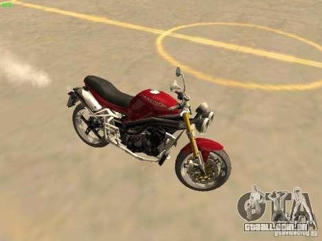 Bike Triumph para GTA San Andreas traseira esquerda vista
