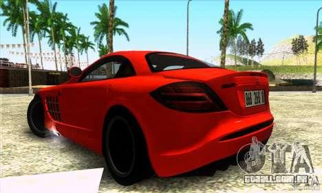 Mercedes Mclaren SLR 722 para GTA San Andreas esquerda vista