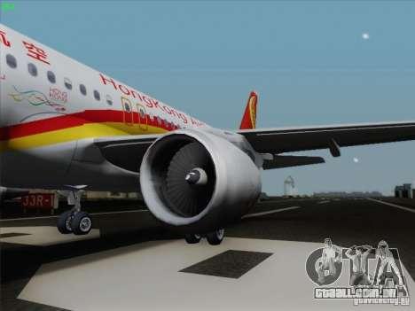 Airbus A320-214 Hong Kong Airlines para GTA San Andreas esquerda vista