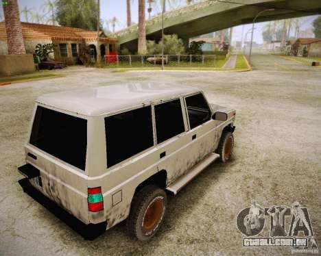 Daihatsu Taft Hiline Long para GTA San Andreas traseira esquerda vista