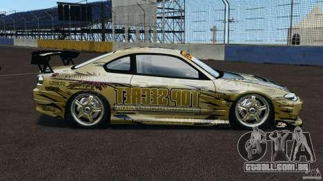 Nissan Silvia S15 D1GP TOP SECRET para GTA 4 esquerda vista