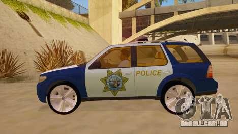 Saab 9-7X Police para GTA San Andreas esquerda vista