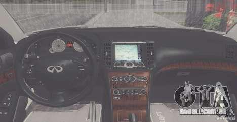 Infiniti M35 para GTA San Andreas vista direita