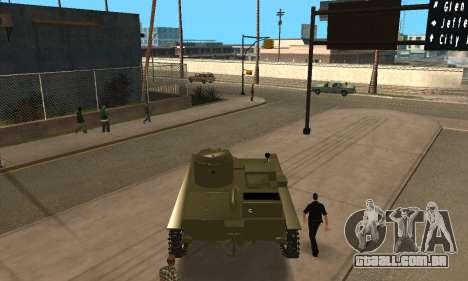 T-38 para GTA San Andreas traseira esquerda vista