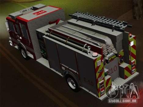 Pierce Saber LAFD Engine 10 para o motor de GTA San Andreas
