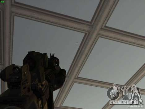 MK-18 US Navy Style para GTA San Andreas por diante tela