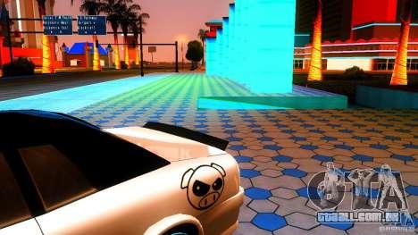 Black and White Elegy para GTA San Andreas traseira esquerda vista