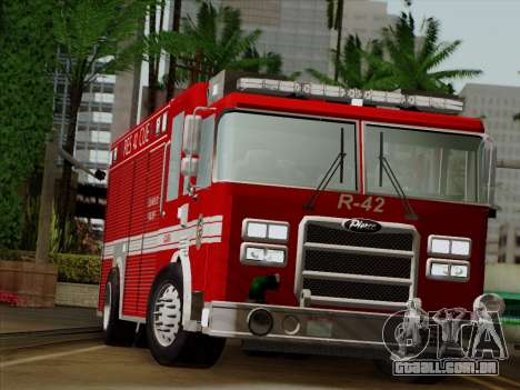 Pierce Contender LAFD Rescue 42 para GTA San Andreas vista traseira