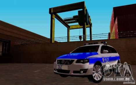 Volkswagen Passat B6 Variant Polizei para GTA San Andreas vista traseira