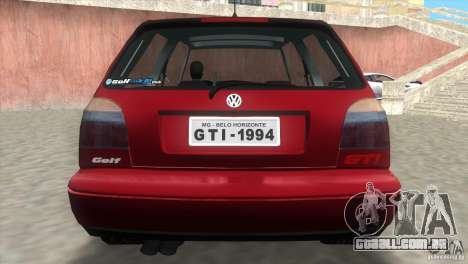 Volkswagen Golf GTI 1994 para GTA Vice City deixou vista