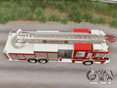 Pierce Arrow LAFD Ladder 43 para vista lateral GTA San Andreas