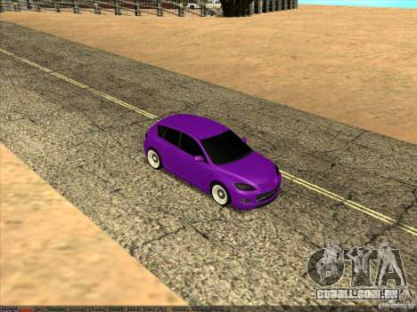 Mazda Speed 3 Stance para GTA San Andreas vista direita