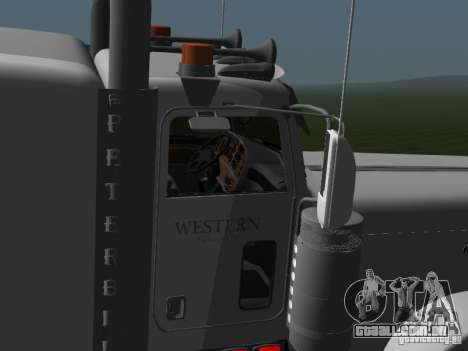 Peterbilt 389 2009 para GTA San Andreas traseira esquerda vista