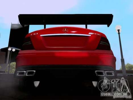 Mercedes-Benz C63 AMG 2012 Black Series para GTA San Andreas vista direita
