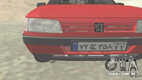 Peugeot RD 1600i para GTA San Andreas esquerda vista
