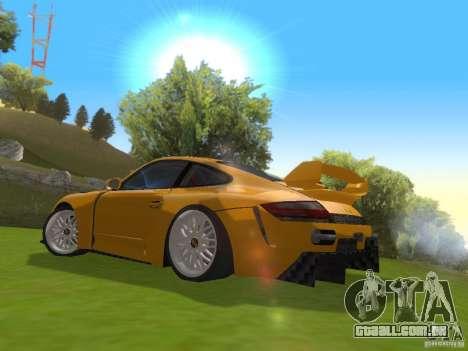 Porsche 911 Turbo Tuning para GTA San Andreas traseira esquerda vista