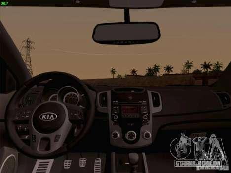 Kia Cerato Coupe 2011 para GTA San Andreas vista traseira