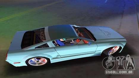Ford Mustang 2005 GT para GTA Vice City vista traseira