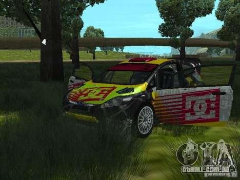 Ford Fiesta H.F.H.V. Ken Block Gymkhana 5 para GTA San Andreas vista traseira