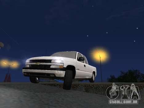 Chevorlet Silverado 2000 para GTA San Andreas vista inferior