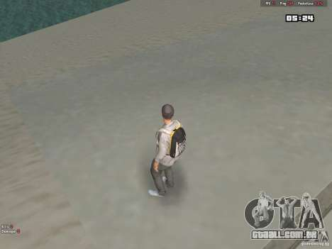 Skin Hipster v1.0 para GTA San Andreas por diante tela