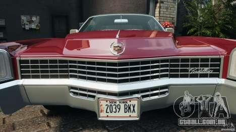 Cadillac Eldorado 1968 para GTA 4 motor