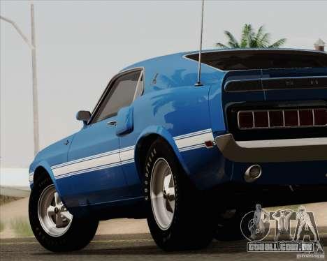 Shelby GT500 428 Cobra Jet 1969 para GTA San Andreas interior