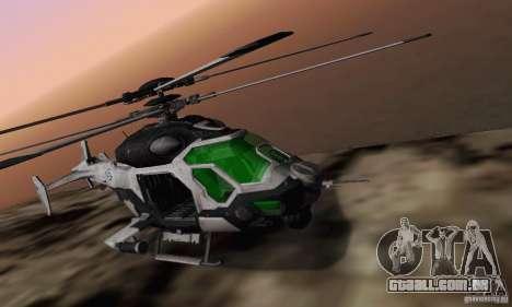 AH-2 Сrysis 50 C.E.L.L. helicóptero para GTA San Andreas vista direita