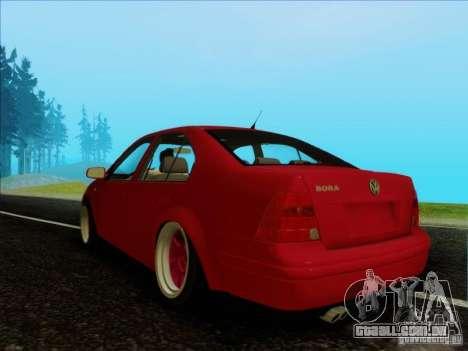Volkswagen Bora HellaFlush para GTA San Andreas traseira esquerda vista