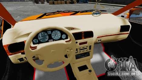Iran Khodro Samand LX Taxi para GTA 4 vista de volta