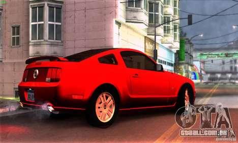 Ford Mustang GT para GTA San Andreas traseira esquerda vista