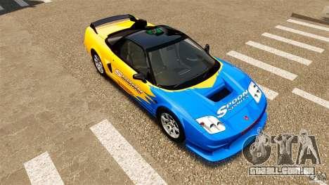 Honda NSX-R GT para GTA 4 vista superior