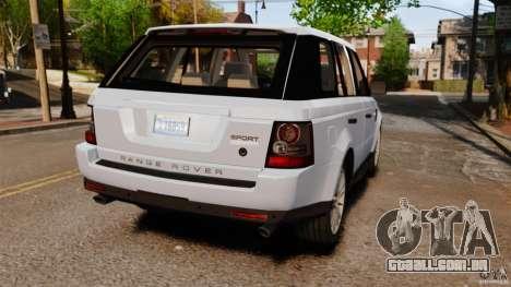 Land Rover Range Rover Sport Supercharged 2010 para GTA 4 traseira esquerda vista