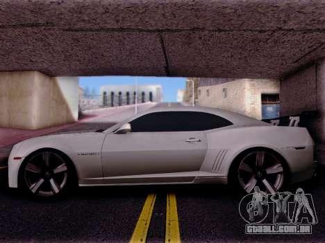 Chevrolet Camaro ZL1 SSX para GTA San Andreas esquerda vista