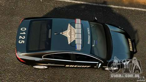 Volvo S60 Sheriff para GTA 4 vista direita