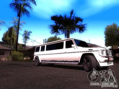 Mercedes-Benz G500 Limousine para GTA San Andreas traseira esquerda vista