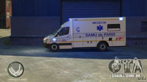 Mercedes-Benz Sprinter Ambulance para GTA 4 vista direita