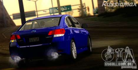 Subaru Legacy B4 2010 para GTA San Andreas vista traseira