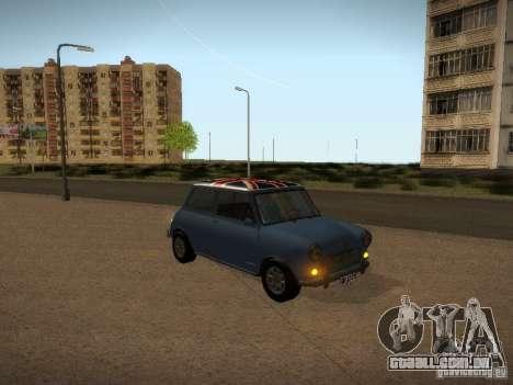 Mini Cooper 1965 para vista lateral GTA San Andreas