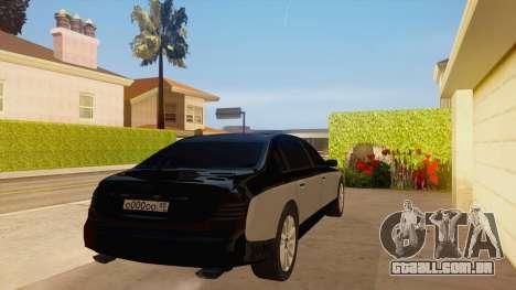 Maybach 62 para GTA San Andreas vista direita