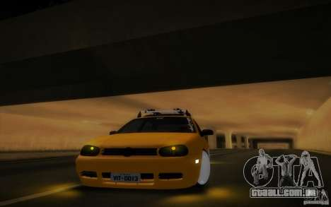Volkswagen Golf para GTA San Andreas vista interior