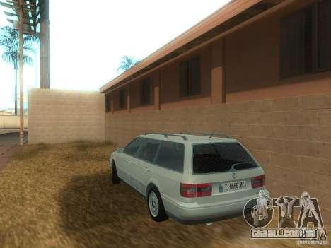 Volkswagen Passat B4 Variant para GTA San Andreas traseira esquerda vista