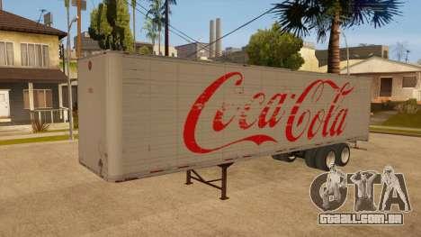 Reboque todo em metal para GTA San Andreas vista interior