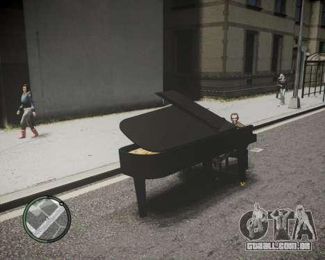 Crazy Piano para GTA 4 traseira esquerda vista