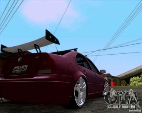 Volkswagen Jetta 2005 para GTA San Andreas traseira esquerda vista