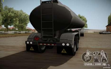 Caravana de Mack Pinnacle Rawhide Edition para GTA San Andreas traseira esquerda vista