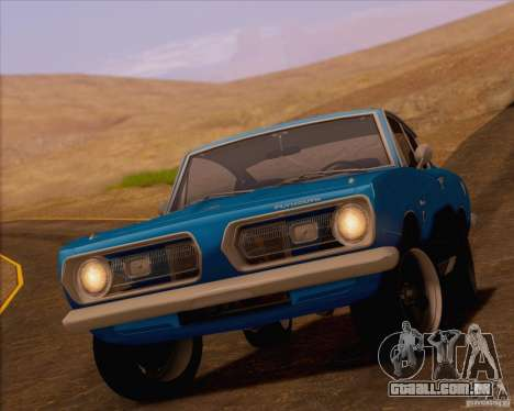Plymouth Barracuda 1968 para GTA San Andreas vista direita