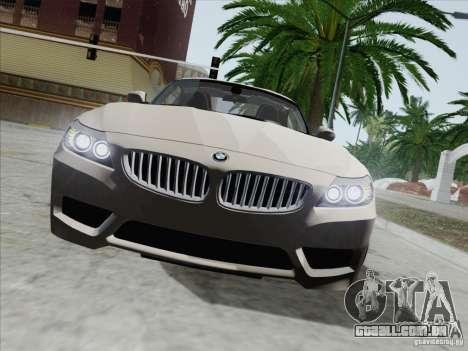 BMW Z4 2011 para GTA San Andreas vista interior