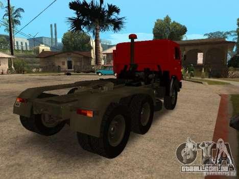 KAMAZ 5410 para GTA San Andreas traseira esquerda vista